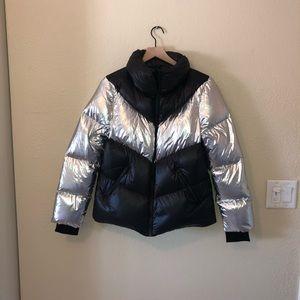 Mackage | Black Silver Down Puffer Coat Jacket